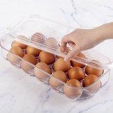16 grilles PET support de boîte de stockage d'oeufs frais cas réfrigérateur conteneur de nourriture