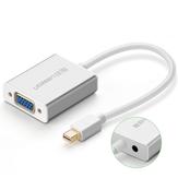 UGREEN MD107 Mini DP para cabo VGA 1080P Cabo de vídeo com 3,5 saída de áudio Conector Adaptador para Macbook HDTV