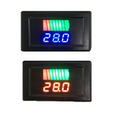 Original              12-60V Car Lead Acid Battery Charge Level Indicator Battery Tester Lithium Battery Capacity Meter Dual LED Tester Digital Voltmeter