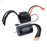 Surpass Hobby 3650 Waterproof 4Pole¢3.175mm Unsensed Brushless RC Car Motor+60A ESC For 1/8/10 Vehicle Models