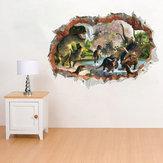 Dinossauros de quarto Kids Room Decor Adesivo de parede Decalque em parede Decalque em parede 3D Art Stickers Vinyl Room
