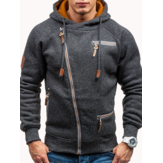 Men's Fashion Zipper Hoodies Casual Sweatshirts