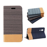 Bakeey Flip Canvas PU Leather Full Body Protective Case for Sharp AQUOS S2