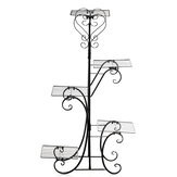 5 Tier Metal Plant Stand Flower Pot Shelf Rack Rust Resistant for Indoor Outdoor Rotary Display Stand