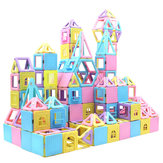 78PCS Magnetic Blocks Building Set Magnet Stacking Toys for Kids Magnet Tiles Kits Gift