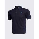 Casual Solid Color Broderi Quick Drying Golf Shirt