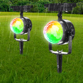 Solar Power Garden Rotating Lights Outdoor Landscape Path Yard Projetor Decorações de luz