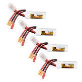 4Pcs ZOP Power 11.1V 450mAh 70C 3S Lipo Battery JST XT30 Plug for FPV Racing Multi Rotor