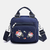 Women Nylon Fashion Embroidered Crossbody Bag