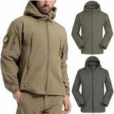 Su geçirmez Erkekler Taktik Kış Coat Kargo Soft Kabuk Askeri Ceket Rüzgarlık