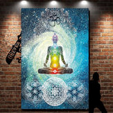 7 Chakra Wall Hanging Tapestry Indian Blue Tone Bedspread Bedding