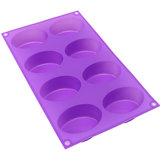 8-holte ovale zeep schimmel siliconen chocoladevorm lade zelfgemaakte muffin making tool bakvorm