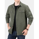 Herren Multi Pockets 100% Cotton Tooling Jacke