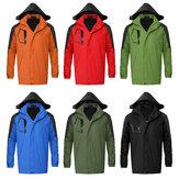 M-XXL Su Geçirmez Rüzgar Geçirmez Ceket Kar Kış Sıcak Ceket Kapşonlu Dış Giyim Outdoor Yürüyüş Için Giysi Balıkçılık