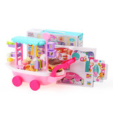 36Pcs Candy Cart Ice Cream Toys Cart W / Wheels Pretend Game Play Girl Birthday Gift