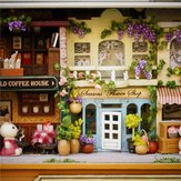 3D Wooden Dollhouse Miniature DIY Doll House Kit with Furniture 1:24 DIY Box Theater Kit