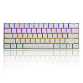 FEKER 60% NKRO bluetooth 5.0 Type-C Outemu Switch PBT Double Shot Keycap RGB Clavier de jeu mécanique - Blanc