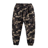 Children Camouflage Joggers Pants Boys Sweatpants Loose Harem Elastic Pants