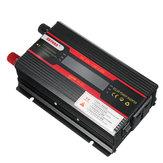 3000 W HS-LCD Inverter DC12 / 24 V için AC110V / 220 V Modifiye Sinüs Araba USB Dönüştürücü Ekran Güç Çevirici