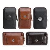 Deri Fermuar Kemer Kılıfı Çanta Vintage Telefon Taktik Bel Çanta Depolama Tutucu Paketi