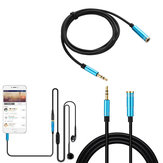 Bakeey Male to Female 3.5mm AUX M/F Stereo Jack Headphone Extension Audio Data Cable For iPhone 8Plus 11 Pro Huawei P30 Mate 30