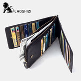 Men RFID Wallet Genuine Leather Long  Card Holder