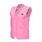 Blue/Pink Unisex Electric Battery Heated Heating Pad Vest Winter Warm Up Jacket Warmer