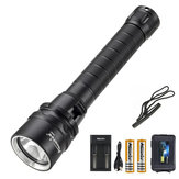 AloneFire DV52 XM-L2 LED ضد للماء LED Flashlight 18650 Flashlight Diving Flashlight