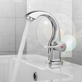 Modern Swan Neck Chrome Bathroom Basin Faucet Waterfall Spout Single Handle Sink Bath Single Cold Tap