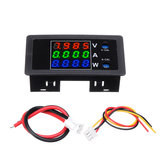 DC0-100V 10A DC Voltmeter and Ammeter Digital Dual Display 4-digit High Precision Power Meter Red-Green-Blue