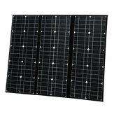 Painel solar Monocrystalline portátil dobrável de 100W 18V com porta usb 5V