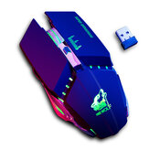 Free Wolf X11 Wireless Gaming Mouse 2400dpi Rechargeable 7 color Breathing Backlight Gamer Mice for Computer Laptop PC