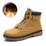 Winter Men's Work Snow Boots Keep Warm Shoes Camping Waterproof Hiking Outdoor Sneakers