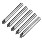 Drillpro 5pcs 6mm Shank 0.1mm Tip 60 Degree Tungsten Steel Engraving Bit CNC Tool