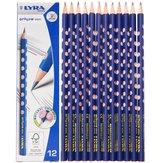 Lyra 1760102 12 pièces / ensemble crayons de croquis en bois mince trou Correction écriture Posture poignée Position peinture dessin crayon