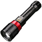 SKYFIRE SF-246 T6 Rotating Zoomable 18650 Battery Flashlight Red Laser USB Charging Work Lamp Night Warning Lantern