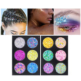 Popfeel 6Colors Diamond Powder Glitter Eye Powder Palette Sh