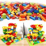 200 Teile / satz Labyrinth Ball Track Bausteine ABS Trichter Rutsche Montieren Ziegel Blöcke Spielzeug