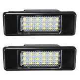 2 x LED SMD License Plate Light For Peugeot 106 207 307 308 406 407 508 White