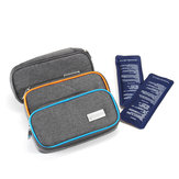 Medicals Insulinum Cooler Box Cool Protector Case Travel Injector Storage Bag with 2 Ice bag