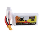 ZOP Power 7.4V 600mAh 100C 2S Lipo Battery XT30 Plug for XK K130 RC Helicopter