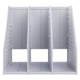 デリ78995調整可能なドキュメントトレイファイルホルダーオフィス用3層PPマガジンブックファイルオーガナイザー