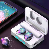 Colorful Cool TWS bluetooth 5.0 Earphone LED Display Touch Control 3500mAh Power Bank Headphone with Mic