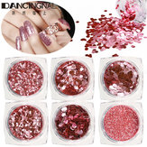 Pink Superfine Glitter Small Sequin Nail Glitter Set