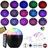 16 kleuren LED Stage Light bluetooth luidspreker Disco Party Club kristallen bol met afstandsbediening