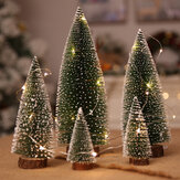 Loskii Christmas Tree Christmas Decorations Supplies Small Pine Tree Placed In The Desktop DIY Decoration Mini Christmas Tree