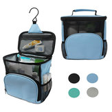 600D Polyester Waterproof Wash Bag Hanging Make Up Cosmetic Pouch Folding Storage Bag