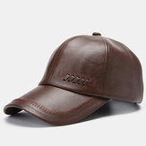 Mens Leather Baseball Caps