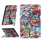 Folding Stand Tablet Case Cover for Samsung Tab A 10.1 T510 - Doodle