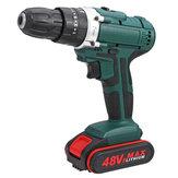 48V 2 Speed Power Drills Broca elétrica sem fio 6500mAh 25 + 3 Torque Drilling Tool